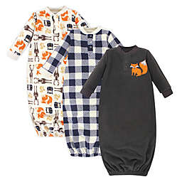Hudson Baby® Size 0-6M 3-Pack Forest Sleep Gowns