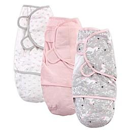 Hudson Baby® Size 0-3M 3-Pack Unicorn Swaddles