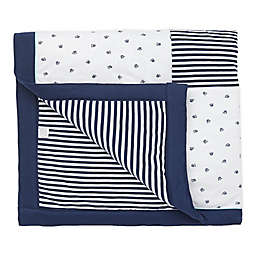 Little Me® Top Doggy Newborn Swaddle Blanket in Blue