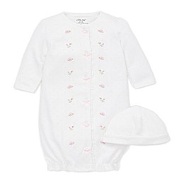 Little Me® Size 0-3M Garden Gown/Sleeping Bag with Hat in White