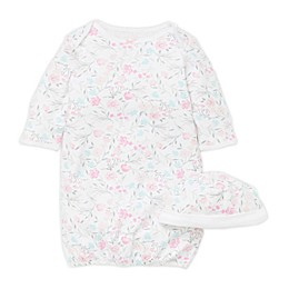 Little Me® Size 0-3M Watercolor Flowers Gown with Hat in Pink