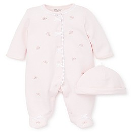 Little Me® 2-Piece Blossom Footie and Hat Set in Pink