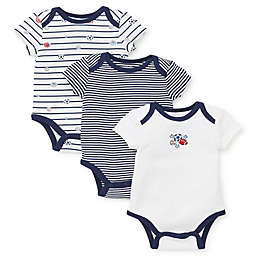 Little Me® 3-Pack Sports Star Bodysuits in Navy
