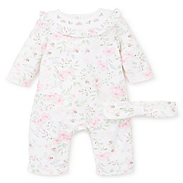 Little Me® 2-Piece Blossom Coverall and Headband in Pink