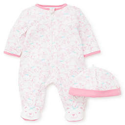 Little Me® 2-Piece Teddy Bears Footie and Hat Set in Pink