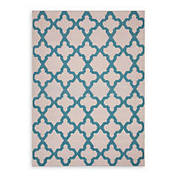 Jaipur Maroc Aster Rug in Antique White/Capri