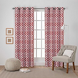 Scrollwork 2-Pack Grommet Room Darkening Window Curtain Panels