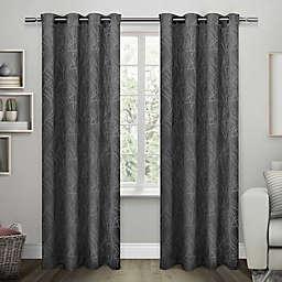 Exclusive Home Twig 2-Pack Room -Darkening Grommet Top Window Curtain Panels