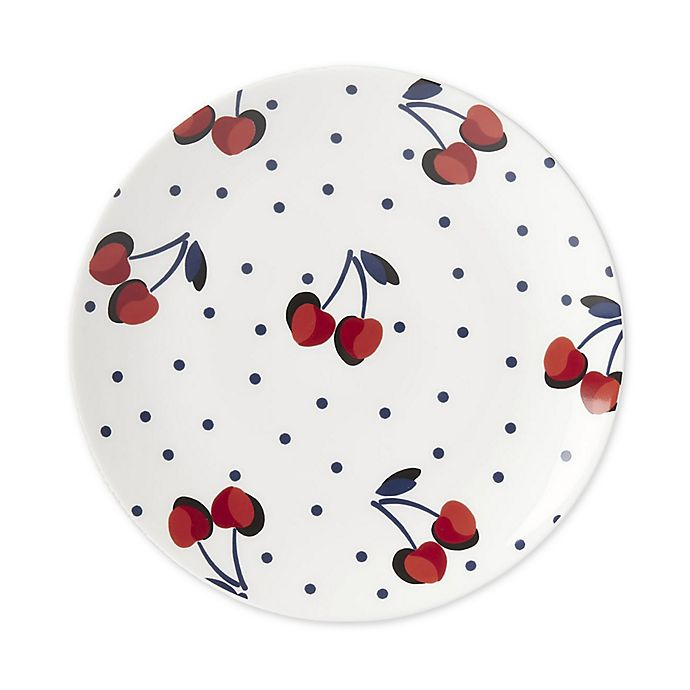 Alternate image 1 for kate spade new york Vintage Cherry Dot Tidbit Accent Plates in Red (Set of 4)