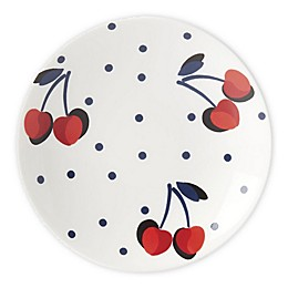 kate spade new york Vintage Cherry Dot Tidbit Plates in Red (Set of 4)