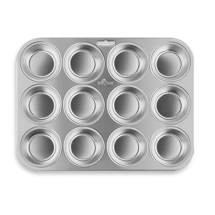 Alternate image 1 for Fox Run Brands™ 12-Cup Stainless Steel Muffin Pan