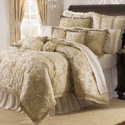 Michael Amini Novella 4 Piece Reversible Comforter Set