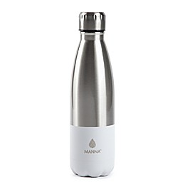 Manna™ Vogue® 17 oz. Color Block Stainless Steel Water Bottle in Grey