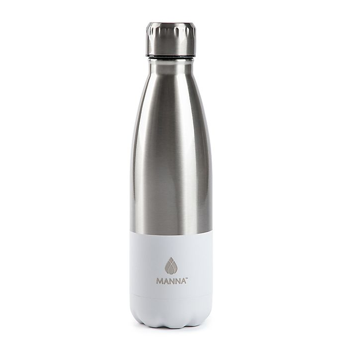 Alternate image 1 for Manna™ Vogue® 17 oz. Double Wall Stainless Steel Bottle in Grey Color Block