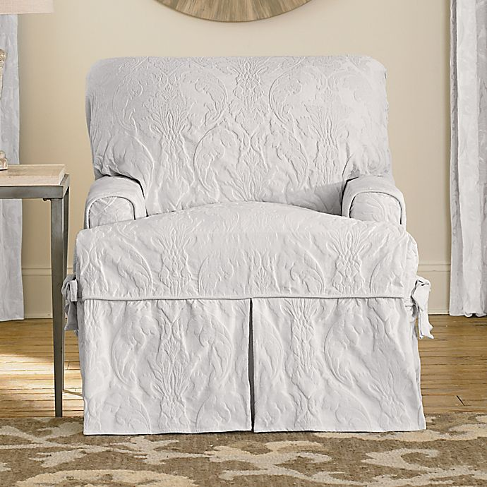Sure Fit Matelasse Damask T Cushion, Sure Fit Slipcovers Chair