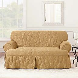 Sure Fit® Matelasse Damask 1-Piece T-Cushion Sofa Slipcover