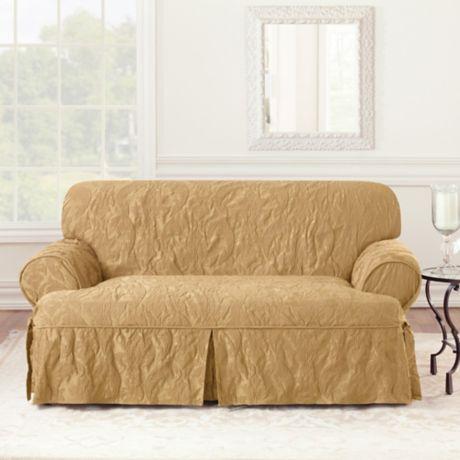Sure Fit 174 Matelasse Damask 1 Piece T Cushion Sofa