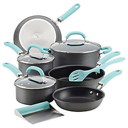 Rachael Ray™ Create Delicious Nonstick Hard-Anodized 11-Piece Cookware Set in Blue