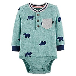 OshKosh B'gosh® Bear Double Decker Bodysuit in Green