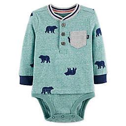 OshKosh B'gosh® Bear Double Decker Bodysuit in Green