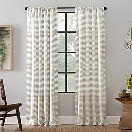 Clean Window® Modern Check Pattern Anti-Dust Semi-Sheer Rod Pocket Curtain Panel