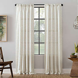 Clean Window® Modern Check Pattern Anti-Dust Semi-Sheer Rod Pocket Curtain Panel