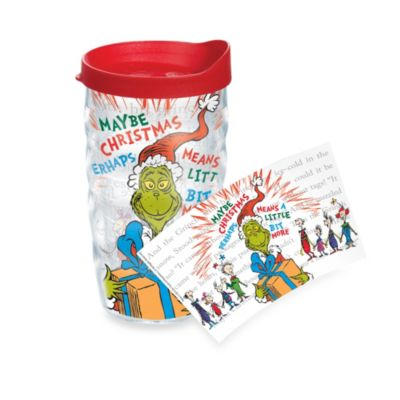 NEW Tervis Dr Seuss Maybe Christmas Grinch Tumbler with Green Travel Lid 24 Oz