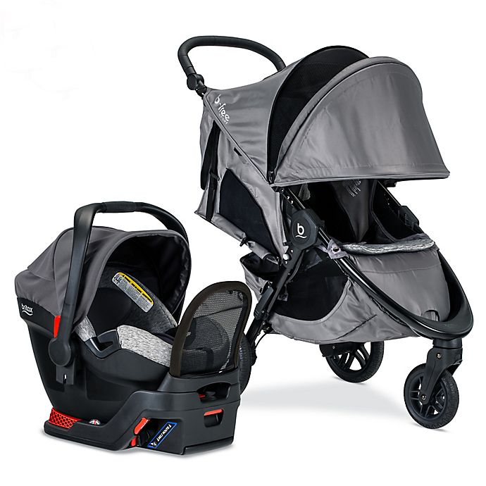 Alternate image 1 for BRITAX® B-Free Sport & Endeavours Travel System in Grey/Black