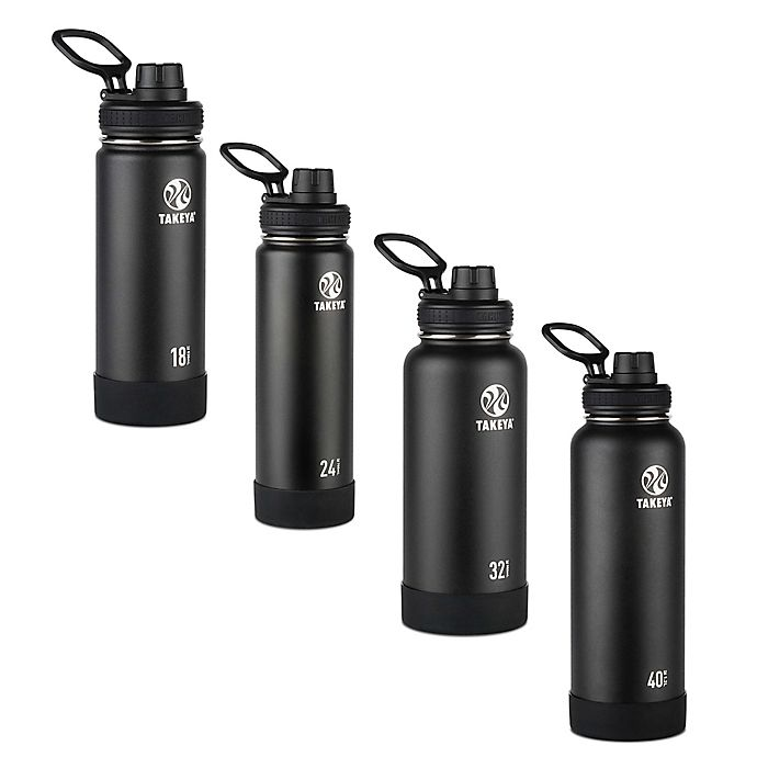 Alternate image 1 for Takeya® Actives Insulated Stainless Steel Water Bottle with Spout Lid