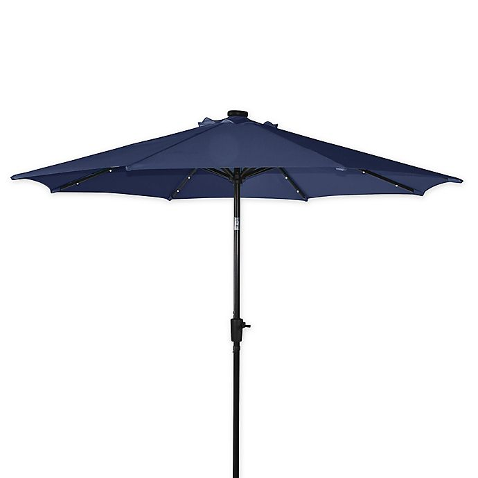 Destination Summer 9 Foot Aluminum Solar Umbrella Bed Bath Beyond