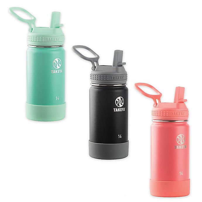 Alternate image 1 for Takeya® Actives Kids' 14 oz. Insulated Water Bottle