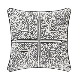 J. Queen New York™ Matteo Chenille Square Throw Pillow in Charcoal