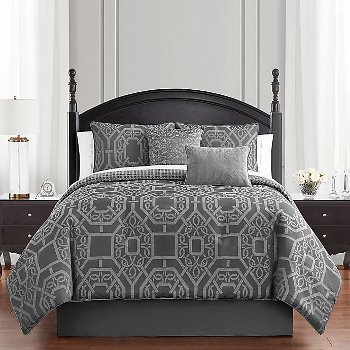 Alternate image 1 for Waterford® Liam 4-Piece Reversible Comforter Set
