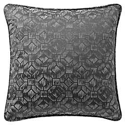 Waterford® Liam Velvet Oblong Throw Pillow in Charcoal