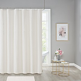 Wave Chenille Shower Curtain Collection