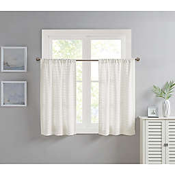Wave Chenille 2-Pack 32-Inch Rod Pocket Window Curtain Panels in White