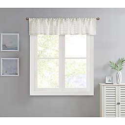 Wave Chenille Window Valance in White