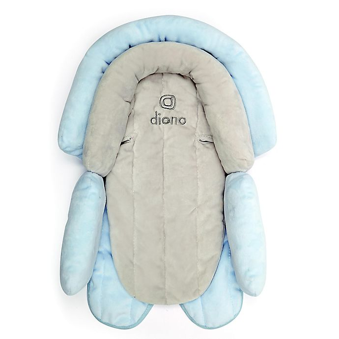 Alternate image 1 for Diono® cuddle soft™ 2-in-1 Infant Head Support in Grey/Blue