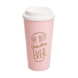 Pearhead® Grandma Travel Mug in White/Gold