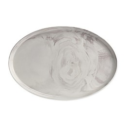 Artisanal Kitchen Supply® Coupe Marbleized 17-Inch Oval Platter in Grey