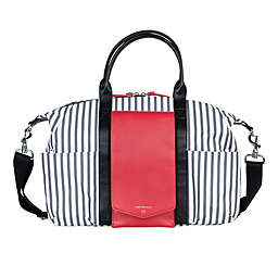 TWELVElittle Peek-A-Boo Diaper Satchel in Red Stripe