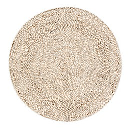 Round Speckled Hen Rug