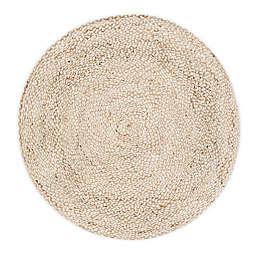 Round Speckled Hen Rug