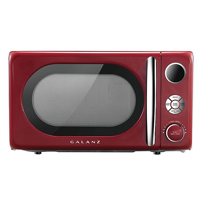 Alternate image 1 for Galanz Retro Style 0.7 cu. ft. Microwave Oven in Red