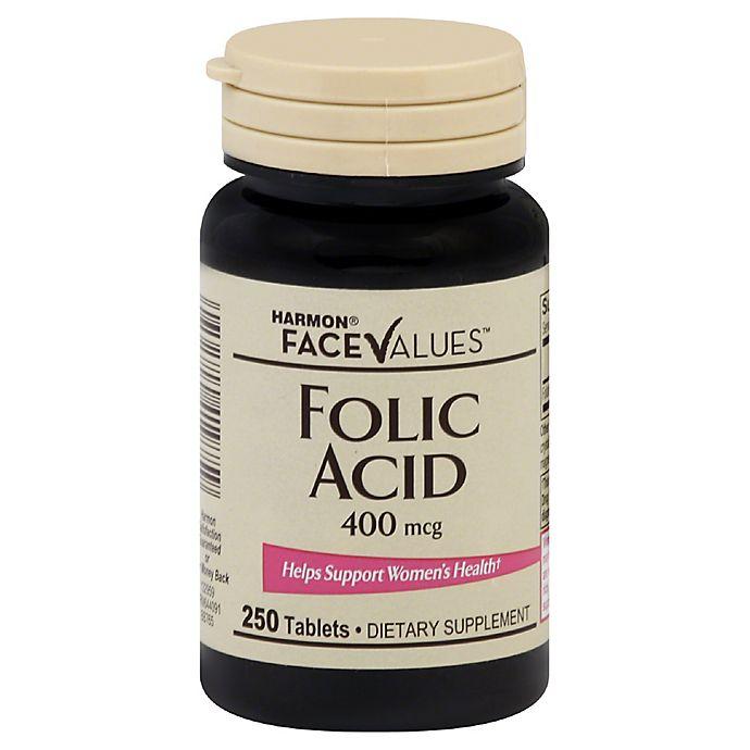 Alternate image 1 for Harmon® Face Values™ 250-Count 400 mcg Folic Acid