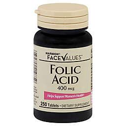 Harmon® Face Values™ 250-Count 400 mcg Folic Acid