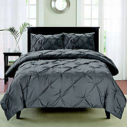 Cathay® Home Pintuck 3-Piece Duvet Cover Set
