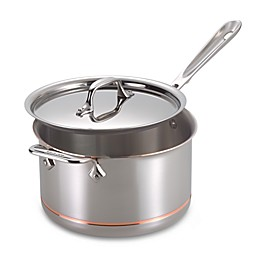 All-Clad Copper Core® 4 qt. Covered Saucepan with Helper Handle