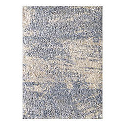 O&O by Olivia & Oliver™ Crosby 3'3 x 4'11 Shag Accent Rug in Blue