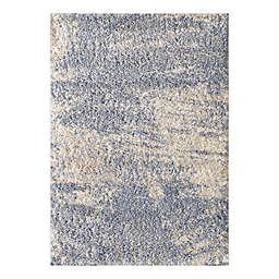 O&O by Olivia & Oliver™ Crosby 3'3 x 4'11 Shag Accent Rug in Blue